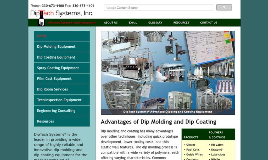 Diptech Systems Inc Dip Molded Plastics